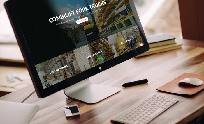 Website Design for Compact Fork Trucks